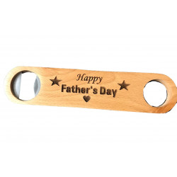 Personalised Bamboo Bottle Opener Laser Engraved