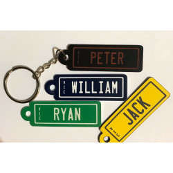 Personalised Key Chain Number Plate Rego Style Car Keyring Tag Engraved Any Name