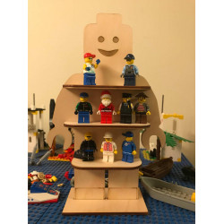 Mini Figure Brickman Toy Lego Shelf Custom Cut and Personalised