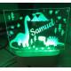 Personalised Night Light Dinosaur Name LED USB Decor Light