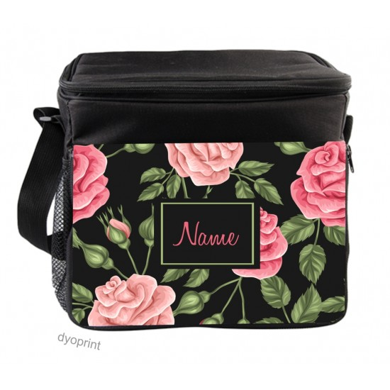 Personalised Insulated Cooler Bag - SK11 Roses
