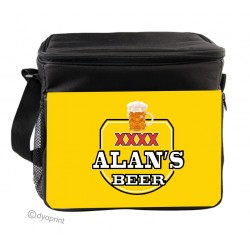 Personalised Insulated Cooler Bag - SK16 Yellow Beer