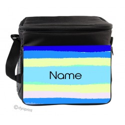 Personalised Insulated Cooler Bag - SK25 Blue Stripes