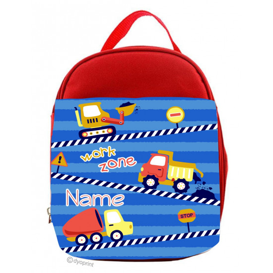 Personalised Kids Lunch Pack - LP12 Construction