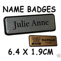 Name Badge 6.4cm x 1.9cm PIN BACK