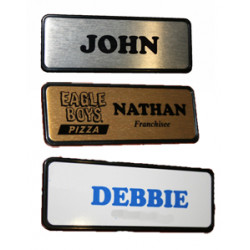 Name Badge 7.6cm x 2.5cm PIN BACK