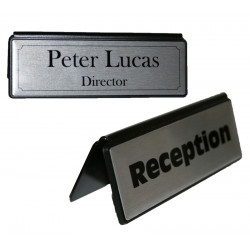 Personalised DESK NAME PLATE custom plaque A frame SIGN