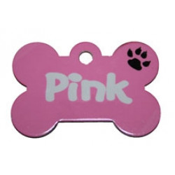 Personalised PLAIN COLOUR Metal Dog tag / pet tags ID cat /dogs