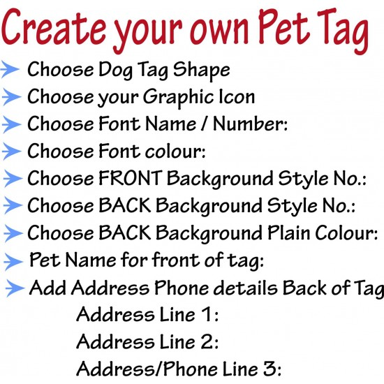 Personalised Pet Tag - Metal