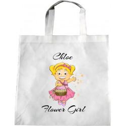 Personalised Wedding Enviro Tote Bag - Blonde Flower Girl Design W