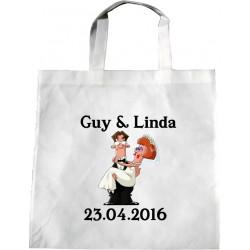 Personalised Wedding Enviro Tote Bag - Groom Bride DesignX