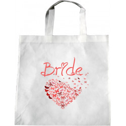 Personalised Wedding Enviro Tote Bag - Butterfly Heart