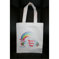 Personalised Enviro Tote Bag - Easter Rainbow
