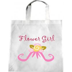 Personalised Wedding Enviro Tote Bag - Flower Bouquet G