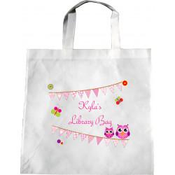 Personalised Wedding Enviro Tote Bag - Patch Owl