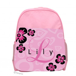 Personalised Kids Back Pack Bag - KBP13 Flowers