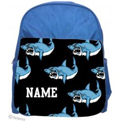 Personalised Kids Back Pack Bag - KBP16 Sharks