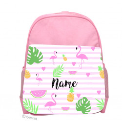 Personalised Kids Back Pack Bag - KBP2 Flamingo