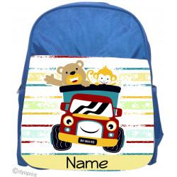 Personalised Kids Back Pack Bag - KBP3 Happy Animals
