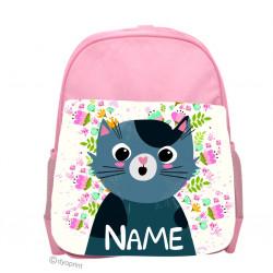 Personalised Kids Back Pack Bag - KBP4 Cat