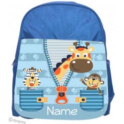 Personalised Kids Back Pack Bag - KBP6 Jungle