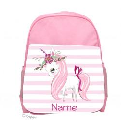 Personalised Kids Back Pack Bag - KBP9 Star Unicorn