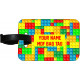 Personalised MDF Luggage Bag Tag - Block Design