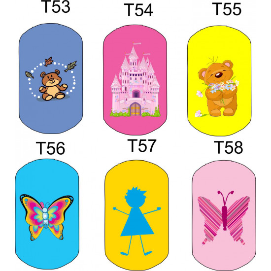 Personalised Metal BAG TAGS/ Key Tags - Many Designs and colours