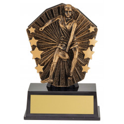 Australian Rules Football Female Player Trophy 120mm Cosmos Super Mini Series CSM87