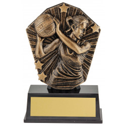 Netball Trophy 120mm Cosmos Super Mini Series CSM91