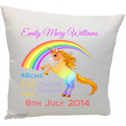 Birth Cushion BC12 Unicorn Rainbow