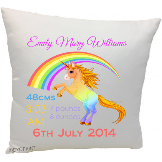 Birth Cushion BC12 Unicorn Rainbow