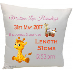 Birth Cushion BC14 Baby Giraffe