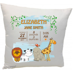 Birth Cushion BC16 Jungle Animals