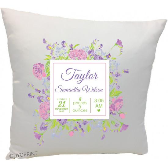 Birth Cushion BC17 Flower frame