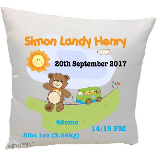 Birth Cushion BC35 Teddy Toys