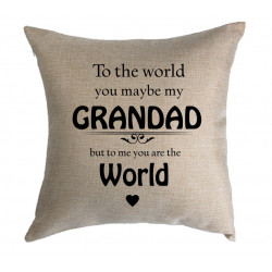 Personalised Cushion - To the world your my world