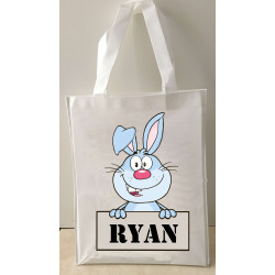 Personalised Enviro Tote Bag - e13 Happy Bunny