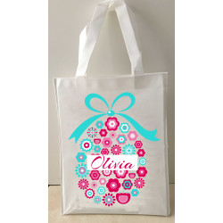 Personalised Enviro Tote Bag - e6 Floral Egg