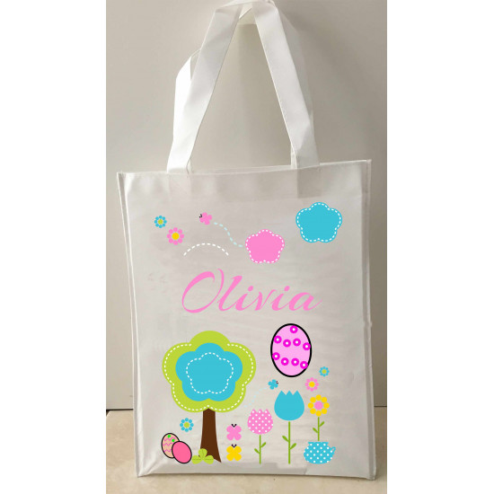 Personalised Enviro Tote Bag - e7 Easter Garden