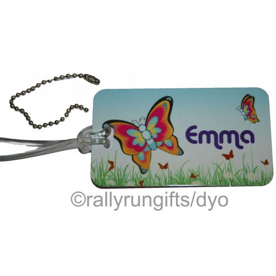 Personalised METAL LUGGAGE bag tag LARGE