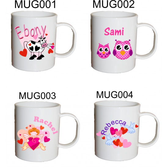 Personalised Unbreakable Plastic Mugs