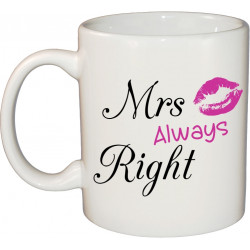 Ceramic Mug - Mrs Always Right