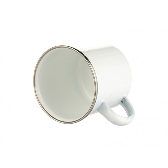 Personalised White Enamel Mug - Daddy est