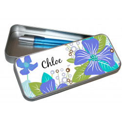 Personalised Pencil Case Tin - Frangipani PT1