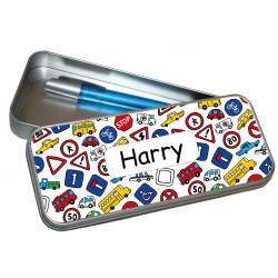 Personalised Pencil Case Tin - Traffic Signs PT17
