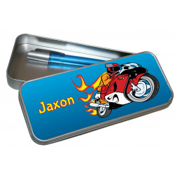 Personalised Pencil Case Tin - Motorbike PT19