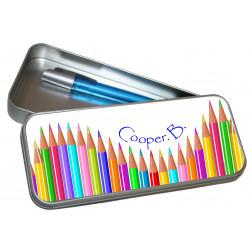 Personalised Pencil Case Tin - Colour Pencils PT7