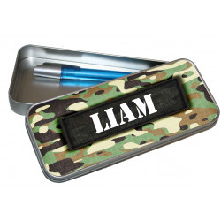 Personalised Pencil Case Tin - Camo Patch PT8