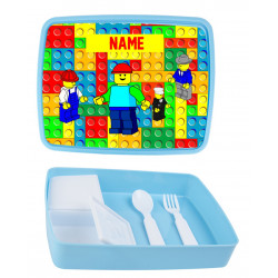 Personalised Plastic Lunch Box PLB1 Blocks